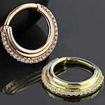 14k gold Dhara clicker ring