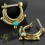 Stacked stone septum clicker