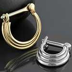 Three-ring circus septum clicker