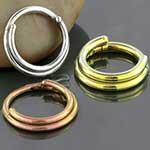 Titanium double septum clicker ring