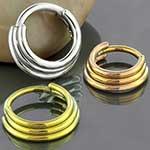 Titanium triple septum clicker ring