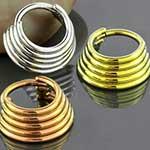 Titanium quintuplet septum clicker ring