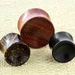 Wood concave plugs