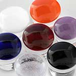 Single flare colorfront pyrex plugs